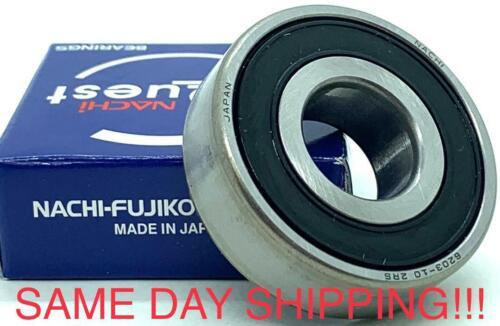 "NACHI JAPAN 6203-10-2RS ball bearing 6203 2RS 5//8/""  bearings 5//8/"" x 40 x 12 mm"