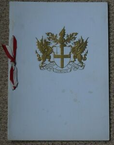 Corporation of London Guildhall Dinner Menu for President of Tunisia 18 May 1961