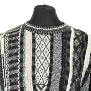 Vintage-Alpaca-Wool-Cosby-Sweater-Jumper-Knit-3D-Patterned-Retro