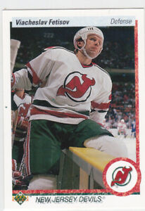 90/91 UD...VIACHESLAV FETISOV...ROOKIE...# 176...DEVILS...FREE COMBINED SHIPPING