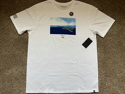$28 BRAND NEW HURLEY MENS TEE T SHIRT WHITE PARTICLES