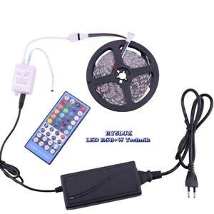 Set-Led-Stripe-12V-24V-RGBW-RGBWW-RGB-W-5050-SMD-40-Key-Controller-Trafo-IP20-65