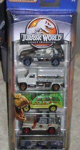 JURASSIC-PARK-MATCHBOX-CARS-LEGACY-5-Pack-ISLAND-EXPLORERS-jeep-ford-explorer