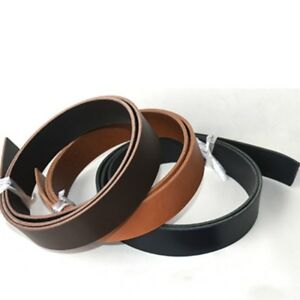 Veg-Tanned-Leather-Straps-Cowhide-Strip-Belt-Fabric-DIY-Blank-Flat-Classic-Brown
