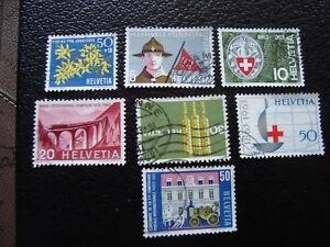 Switzerland-Stamp-Yvert-and-Tellier-N-704-A-710-Obl-A1-Stamp-Switzerland-Z