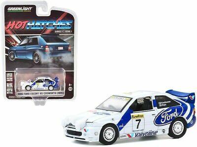 1//64 Greenlight 1996 Ford Escort RS Cosworth WRC #7 Rally Car Blue White 47080E