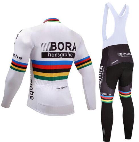 2020 New Mens Team Cycling Jerseys Cycling long Sleeve Jersey And Bib Pants Set
