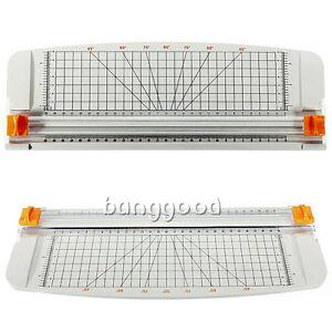 NEW white-Orange 909-1 A4 Guillotine Ruler Paper Cutter Trimmer Plastic Cutters