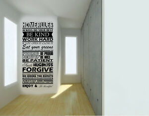 Image Is Loading House Family Home Rules Quote Wall Stickers Art
