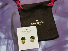 Authentic Kate Spade any way you slice it pineapple studs post earrings New