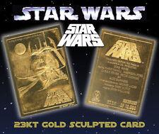 Star Wars Original Movie Poster Genuine 23k Gold Card * Officially Licensed