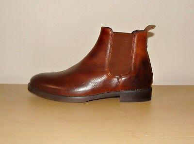 Nuevas Botas Zapatos Hombres Chelsea superior de cuero tostado por Oficina Talla 41/UK 7 RRP £ 75