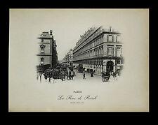 "Paris-""Vues de Paris 1898"" Photogravure ""La Rue de Rivoli."" Neurdein-Freres"