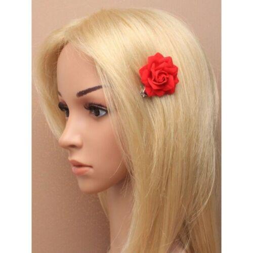 Haarschmuck Kopfschmuck Blume Rose Haarspange Krokodilklammer