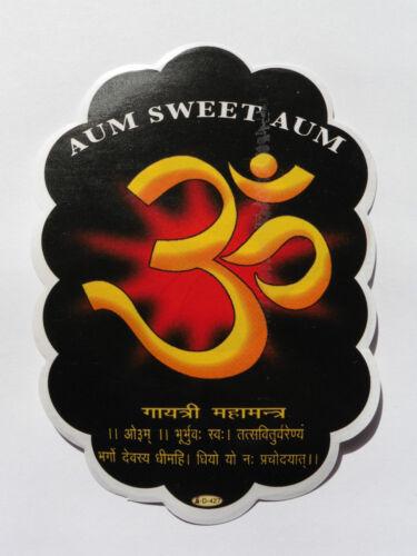 OM AUM Window Hindu Sticker D-427 12.8cm x 9cm Double Sided Black Marked