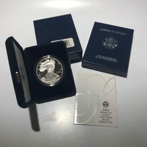 2004-W Proof American Silver Eagle w// Box and COA Free Shipping USA
