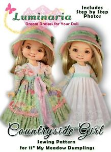 "Digital Pattern Dress Hat Pinafore for 16/"" Disney Animator Dolls Disney Princess"