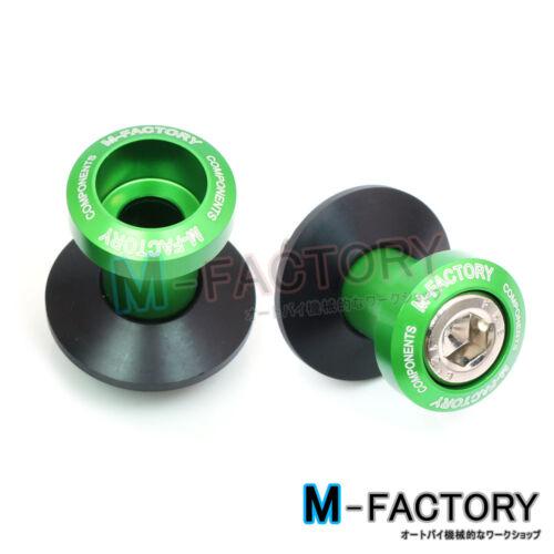 Green Paddock Stand CNC Swingarm Spools Fit Kawasaki Ninja 300R 13 14 15 16 17