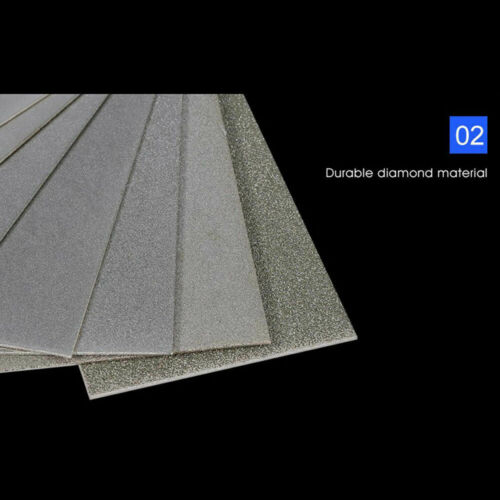 80-3000 Grit Diamant Thin Messerklinge Fräsen Schärfen Stein Whetstone Tool Neu