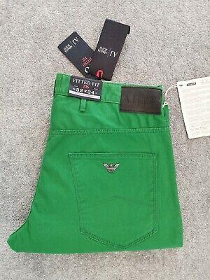 100% Genuine Armani Comfort Aderente Vita Bassa Cerniera Cotone Pantaloni Jeans W32 L34-mostra Il Titolo Originale Sconti