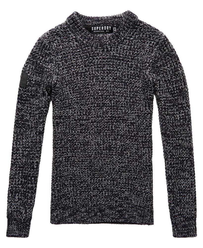 Camicia uomo uomo uomo Superdry Nordic profondità con trama Crew maglione a girocollo blu scuro creamtwist L-XXL 81b7bb
