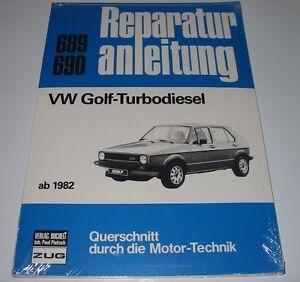 Reparaturanleitung-VW-Golf-I-Typ-17-Turbo-Diesel-ab-Baujahr-1982-NEU