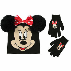Disney-Minnie-Mouse-Hat-and-Gloves-Cold-Weather-Set-Little-Girls-Age-4-7