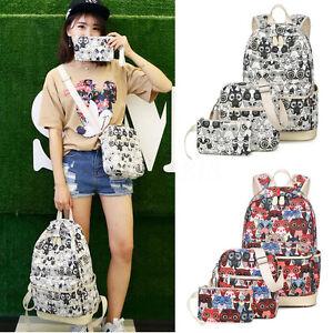 3d2011df8516 Women Pencil Handbag Shoulder Bag Tote Cute Owl Pattern Backpack ...
