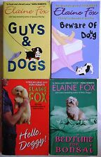 4 PBs ELAINE FOX Guys & Dogs COMPLETE SERIES 3 OOP Bedtime 4 Bonsai/Hello, Doggy