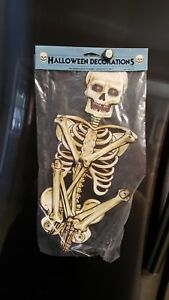 vintage halloween skeleton die cut decoration ebay