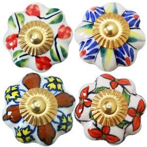 Moebelknoepfe-Set-4-STK-Moebelgriffe-Keramik-Knoepfe-Griffe-Moebelknopf-Bunt-B4