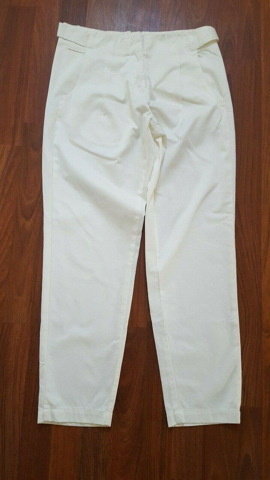160 KORAL Anthropologie Women Ankle Trousers Pants Ivory Medium M New