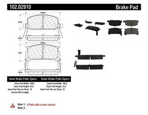 Disc Brake Pad Set-C-TEK Metallic Brake Pads-Preferred Front Centric 102.02910