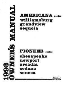 Details about COLEMAN Popup Trailer Owners Manual-1993 Pioneer Sedona  Newport Arcadia Seneca