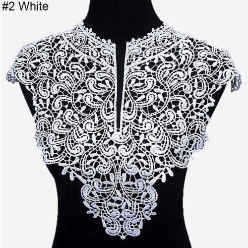 EG/_ 1 Pc Applique Lace Fabric Sewing Craft Embellishments Trims Neck Collar Popu