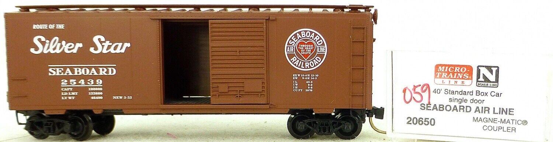 Micro Trains Line 20650 Seaboard Air 40' Standard Boxcar 1 160 Conf. Orig.