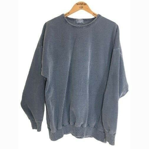 Sweatshirt Pull Over Mens L Gray Faded Thick Warm Ash City