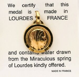 Image is loading Lourdes-Gold-Holy-Water-Pendant-DIRECT-FROM-LOURDES-
