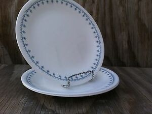 Image is loading Corelle-Dishes-Snowflake-Blue-Medium-Sized-Luncheon-Plates- & Corelle Dishes Snowflake Blue Medium Sized Luncheon Plates Set Of 3 ...
