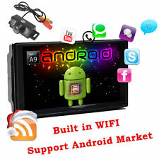 7''HD 2Din Android 5.1 4-Core Autoradio GPS Wifi Car Stereo Player RDS BT+Camera