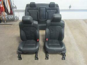 09-12-LINCOLN-MKS-Front-Seat-Leather-Front-Back-Rear-Complete-Black-OEM-Seats