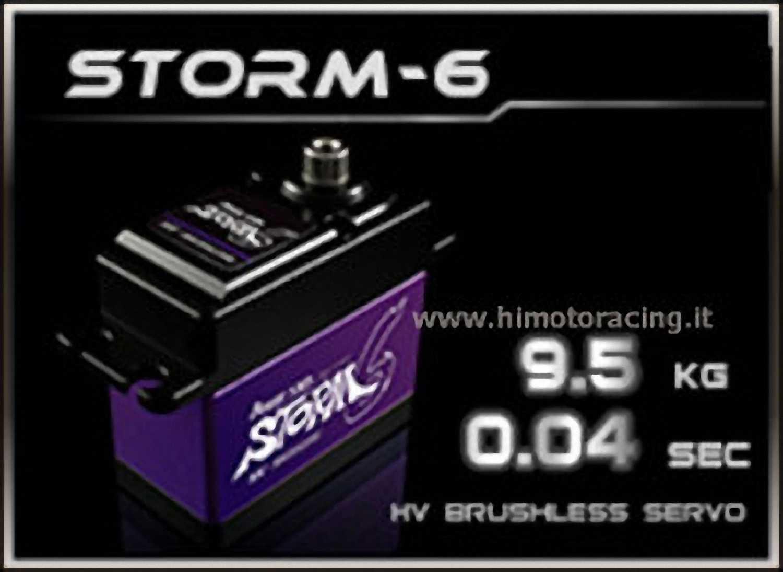 HD-STORM 6 energia Hd Storm-6 Servo  Digitale 9.5kg 8.4V HV Brushless savox  offrendo il 100%