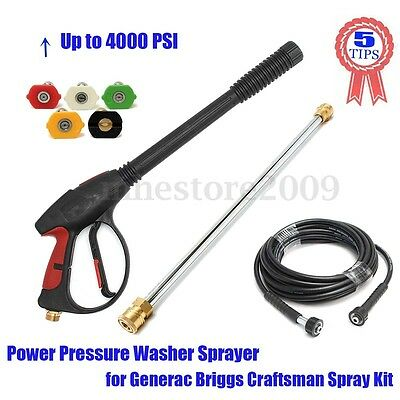 4000PSI High Pressure Washer Car Water Spray Gun, Wand/Lance Kit & 5 SPRAY NEW