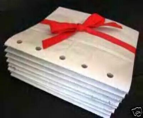 100 6X6 SEWN  BROWN paper bag scrapbook album//piecing