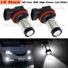 2PCS H8 H11 6-Cree-XB-D White 30W High Power Led for Fog Driving Light Bulbs
