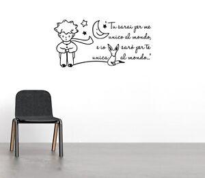 Frasi Sui Bambini Il Piccolo Principe.Adesivi Murali Frase Il Piccolo Principe Wall Stickers Bambini Camerette Ws1428 Ebay