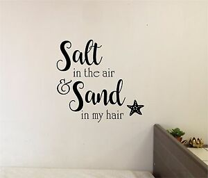 Details about Sand in my Hair Beach Wall Sticker Wall Art Quotes Vinyl  Lettering Decal