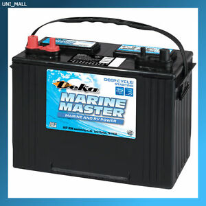 deka genuine new dp27 marine deep cycle starting battery 800amp cca group 27 ebay. Black Bedroom Furniture Sets. Home Design Ideas