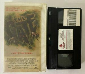 THE-GATE-Vintage-1986-Vestron-VHS-Tape-in-Rental-Case-Horror-Cult-Rare