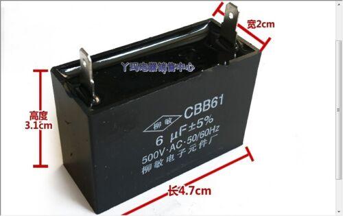 CBB61 6UF 500V 50//60Hz cooker hood Fan start capacitor  5/% #G2068 XH